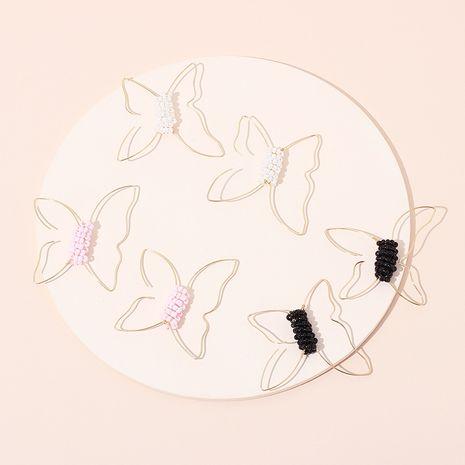 Mode vente chaude simple ligne papillon boucles d'oreilles de perles de riz pour les femmes nihaojewelry NHRN237240's discount tags
