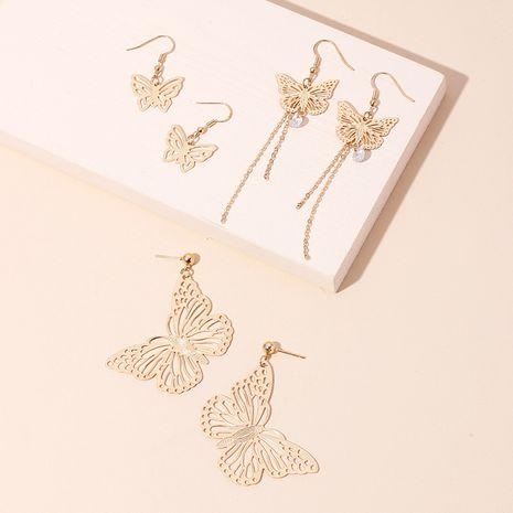 Mode vente chaude long papillon gland oreille crochet all-match mode creux papillon boucles d'oreilles pour les femmes nihaojewelry NHRN237241's discount tags