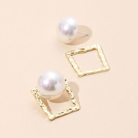Boucles d'oreilles en perles de mode carrées géométriques exagérées en gros nihaojewelry NHRN237252's discount tags