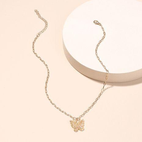 Collier pendentif papillon pour femmes de la mode coréenne Collier tendance diamant zircon nihaojewelry NHRN237255's discount tags