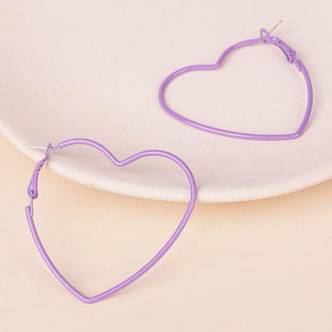 nouvelle ligne coréenne amour boucles d'oreilles rétro en métal creux en gros nihaojewelry NHRN237259's discount tags