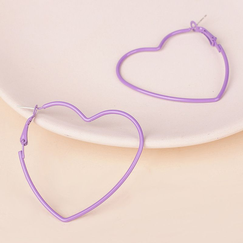 new Korean line love hollow metal retro earrings wholesale nihaojewelry NHRN237259