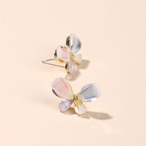 Corée Mode Vitrail Strass Boucles D'oreilles Bijoux Populaires Doux Papillon Boucles D'oreilles En Argent en gros nihaojewelry NHRN237261's discount tags