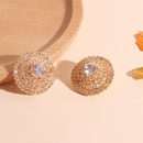 Fashion earrings for women enquisite microstudded earrings light niche earrings for women wholesale nihaojewelry NHRN237273