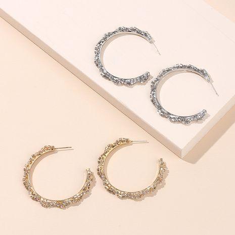 Mode nouveau géométrique grand cercle oreille accessoires irréguliers strass boucles d'oreilles all-match boucles d'oreilles à la mode en diamant NHRN237274's discount tags