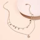 Korean fashion starfish pendant choker copper necklace double beautiful wind star clavicle necklace for women nihaojewelry NHRN237277