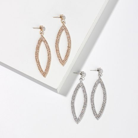 Mode simple yeux d'ange longues boucles d'oreilles en diamant pour femmes simples géométriques ovales boucles d'oreilles en strass boucles d'oreilles en alliage NHRN237278's discount tags