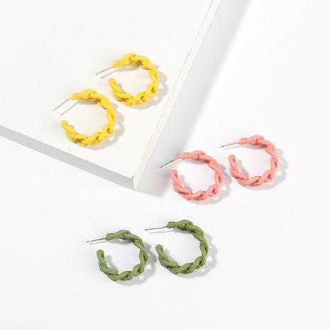 Boucles d'oreilles en forme de C Chaîne de couleur bonbon Boucles d'oreilles creuses en gros Nihaojewelry NHRN237287's discount tags