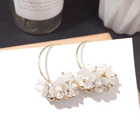 Nouvelle boucle d'oreille florale ronde grande boucle d'oreille en argent boucles d'oreilles en gros nihaojewelry NHFT237311's discount tags