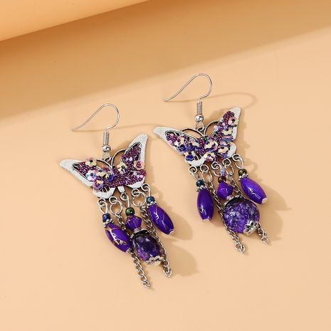Fashion exquisite ear accessories wild flower butterfly resin earrings alloy earrings for women nihaojewelry NHPS237332's discount tags