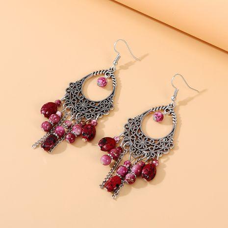 Pendientes de resina salvaje étnicos coreanos pendientes de resina pendientes de aleación para mujeres nihaojewelry NHPS237333's discount tags