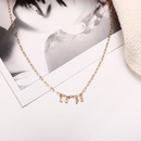 Fashion new gold alloy clavicle chain retro simple English letter womens pendant necklace nihaojewelry NHPJ237312
