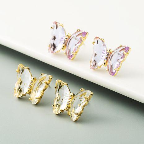 Korean fashion butterfly earrings forest fairy sweet senior earrings wholesale nihaojewelry NHLN237345's discount tags