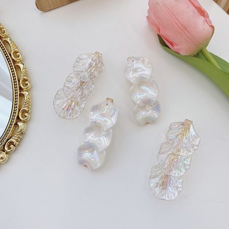 Korea simple shell leaf hairpin fashion hair clips for girls head hairpin wholesale nihaojewelry NHSM237092's discount tags