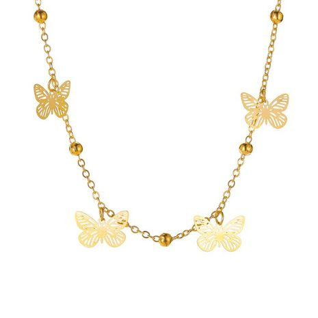 Fashion hot-selling footwear summer multi-layer hollow butterfly pendant anklet for women fashion jewelry nihaojewelry NHDP237066's discount tags