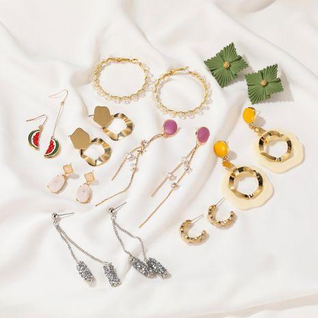 S925 silver needle Korean forest tassel earrings geometric earrings long earrings wholesale nihaojewelry NHDP237074's discount tags