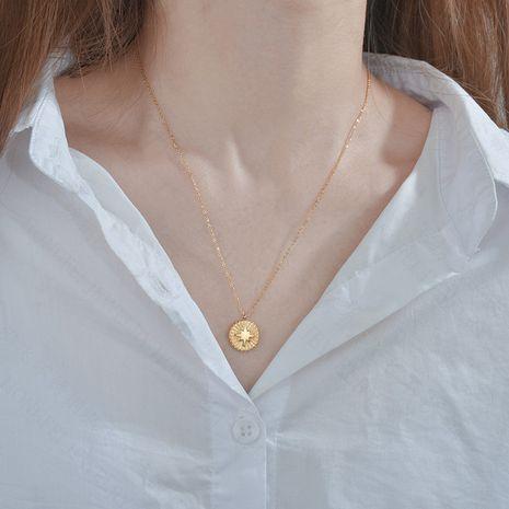 Tendance de la mode collier rond chaîne de chandail de mode niche chaîne de clavicule en acier inoxydable pour les femmes nihaojewelry NHHF237021's discount tags