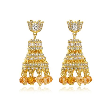 fashion luxury new style ladies banquet ethnic style earrings wholesale nihaojewelry NHTM237125's discount tags