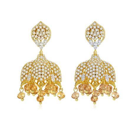 New Creative Tassel Pearl Pendant Bell Earrings Ethnic Earrings wholesale nihaojewelry NHTM237121's discount tags