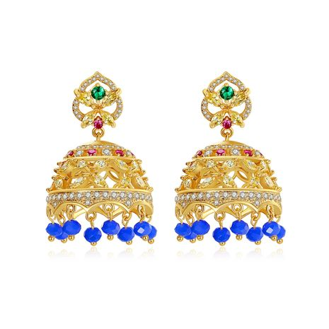 new retro palace style earrings ethnic style color chimes tassel earrings wholesale nihaojewelry NHTM237118's discount tags