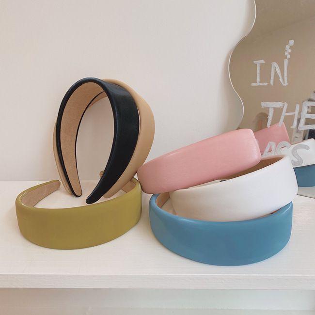 Korean fashion new retro sponge headband color cloth wide-side bundle manual bundle  hair accessories  NHSM237091