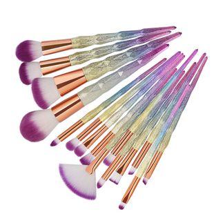 hot sale 15 diamond handle makeup brush beauty tools wholesale nihaojewelry NHDJ237378's discount tags