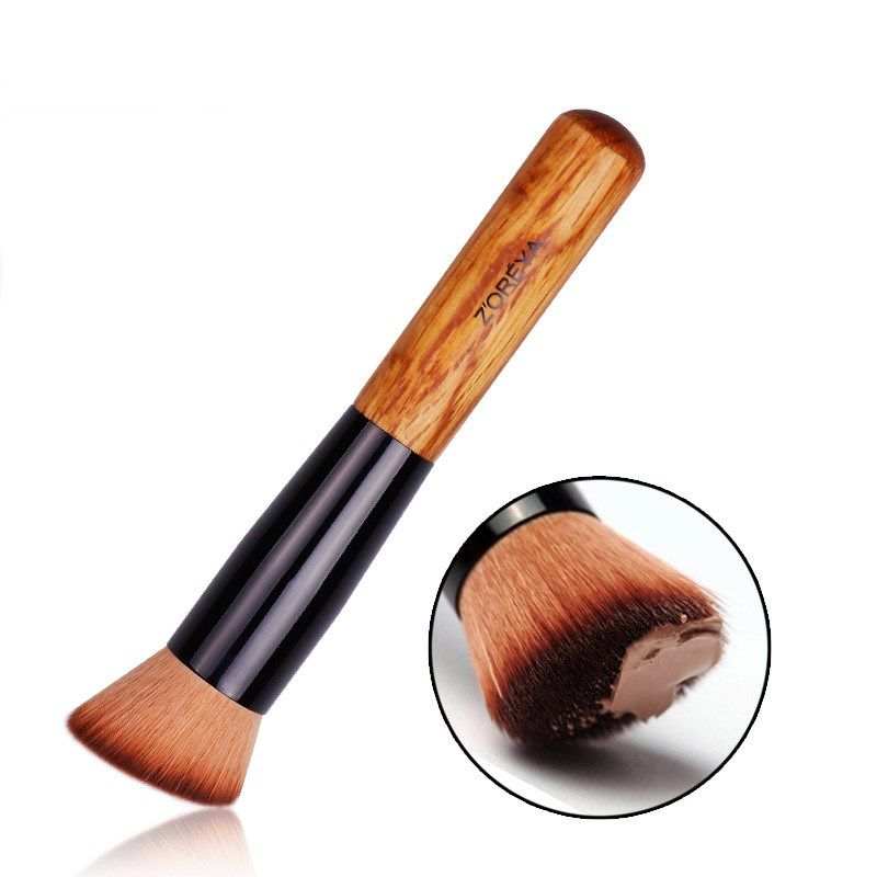 Fashion hot sale makeup brushes stock nylon hair foundation brush makeup tools ash makeup brush nihaojewelry NHAY237417