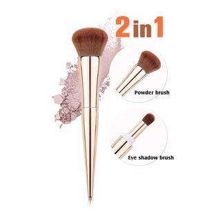Fashion New Multifunctional Cosmetic Brush Nylon brush Hair Electroplating Plastic Handle Portable Cosmetic Brush nihaojewelry NHAY237418's discount tags