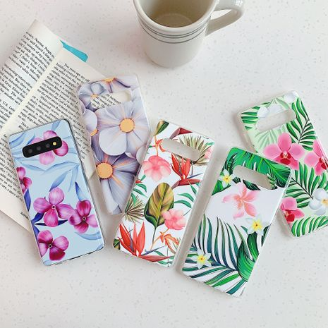 Small fresh flower banana leaf phone case for Samsung S20 S9plus all-inclusive Note10 s10e A70 phone case wholesale NHFI237427's discount tags