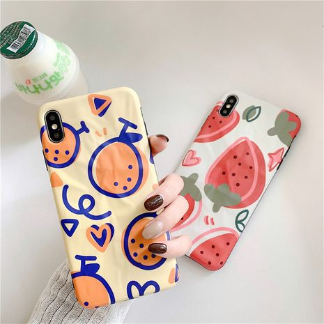 Fashion Strawberry orange apple Xs max origami soft shell for Huawei p30pro/mate20 all-inclusive phone case wholesale NHFI237432's discount tags