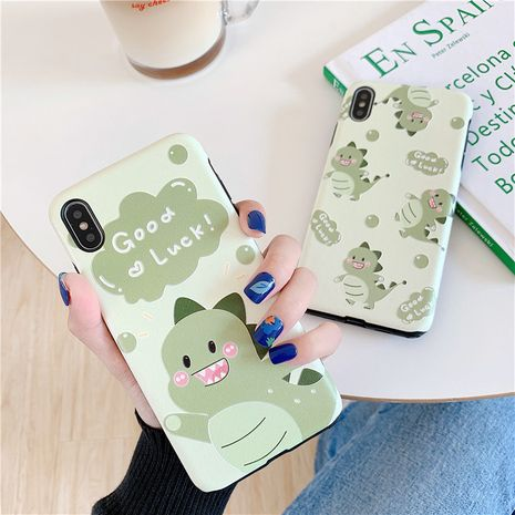 Cute little dinosaur 11pro silk pattern painted mobile phone case Apple XSMax for Huawei P30/mae20pro phone case  NHFI237434's discount tags