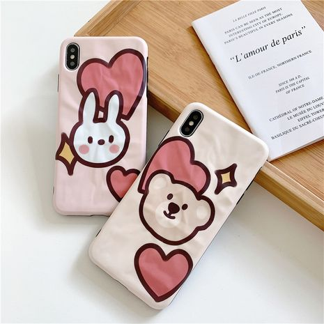 Love bear and rabbit Apple Xs max fashion origami soft shell suitable for Huawei p30pro/mate20 phone case NHFI237439's discount tags
