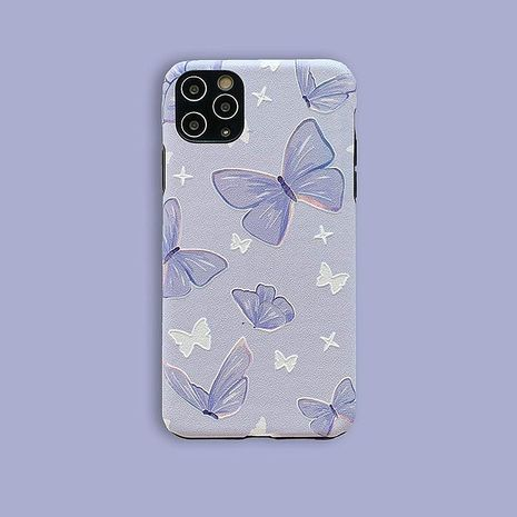 Korean style purple butterfly for 11Pro/xsmax Apple X/XS/XR mobile phone case iPhone7p female silicone SE2 NHFI237445's discount tags
