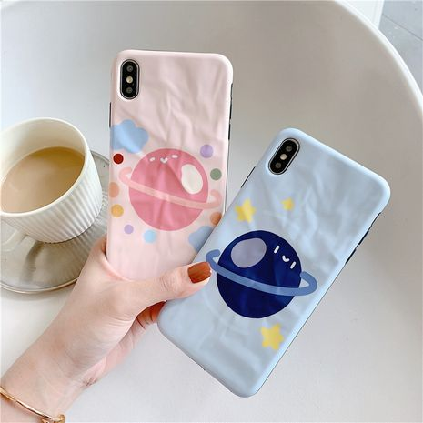 Fashion planet Apple Xs max origami soft shell for Huawei p30pro/mate20 all-inclusive anti-fall phone case NHFI237446's discount tags