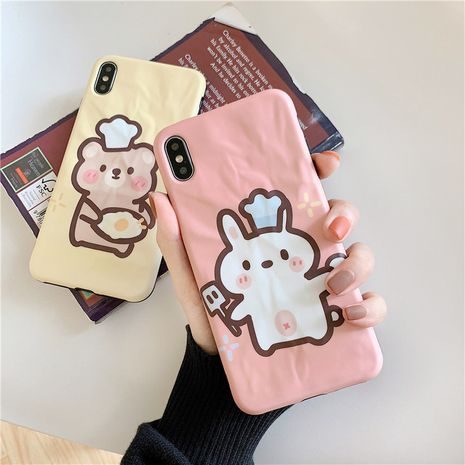 Cartoon chef bear Huawei P30pro mobile phone case creative origami soft phone case  for apple xs max/8plus NHFI237447's discount tags
