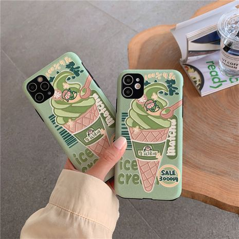 Fashion Matcha ice cream girl funda para teléfono móvil para 11Pro / xsmax Apple XS / XR l iPhone7 funda de silicona SE2 para teléfono NHFI237449's discount tags