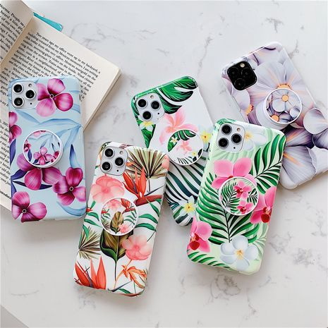 Small fresh flower banana leaf holder shell for Apple 11Pro max mobile phone case iPhoneXR P30Pro phone case wholesale  NHFI237461's discount tags