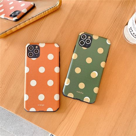 Simple wave dot mobile phone case for Apple 11Pro iPhone8 7plusX XR silk pattern phone case wholesale  NHFI237463's discount tags