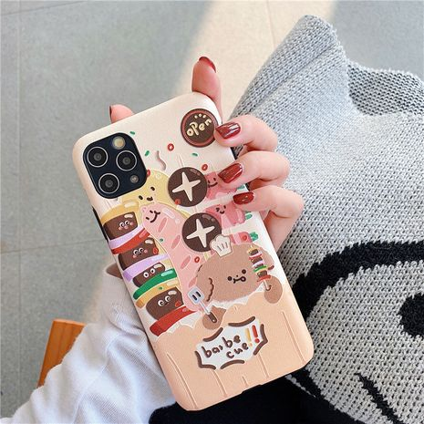 Fashion Funny Barbecue Bear Applicable to Apple x xs 11promax Mobile Shell iPhone7 8plus Soft Case  NHFI237466's discount tags
