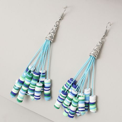 long earrings handmade soft ceramic beaded long tassel earrings exaggerated earrings jewelry NHLA237480's discount tags