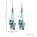 long earrings handmade soft ceramic beaded long tassel earrings exaggerated earrings jewelry NHLA237480