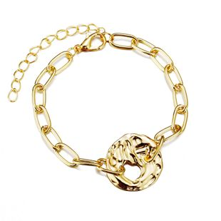 New Creative Geometric Hollow Gold Alloy Bracelet Retro Metal Chain Bracelet Wholesale NHYI237496's discount tags