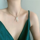 Fashion retro neck accessories pearl necklace pendant double simple necklace for women   NHYQ237505