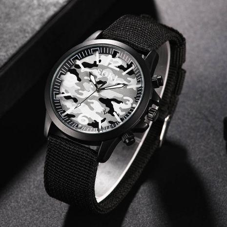 Reloj de correa tejida de nylon calendario de moda para hombres camuflaje al aire libre reloj militar para hombres al por mayor nihaojewelry NHSS237533's discount tags