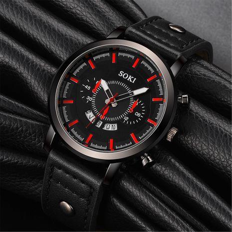Moda simple impermeable negro shell gran dial calendario reloj deportivo para hombres al por mayor nihaojewelry NHSS237535's discount tags