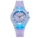 Montre de bande dessine lumineuse mignonne montre de silicone de lapin color montre en silicone en gros nihaojewelry NHSY237544
