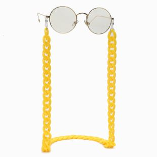 Resin acrylic plastic lemon yellow glasses chain simple retro fashion glasses chain wholesale nihaojewelry NHBC237554's discount tags