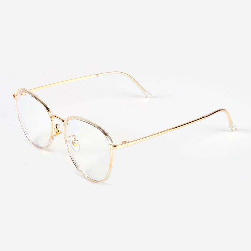New design anti-blue glasses fashion all-match metal flat myopia glasses frame wholesale nihaojewelry NHBC237580
