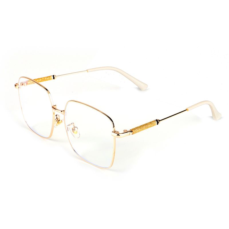 New design anti-blue glasses fashion all-match metal flat myopia glasses frame wholesale nihaojewelry NHBC237583