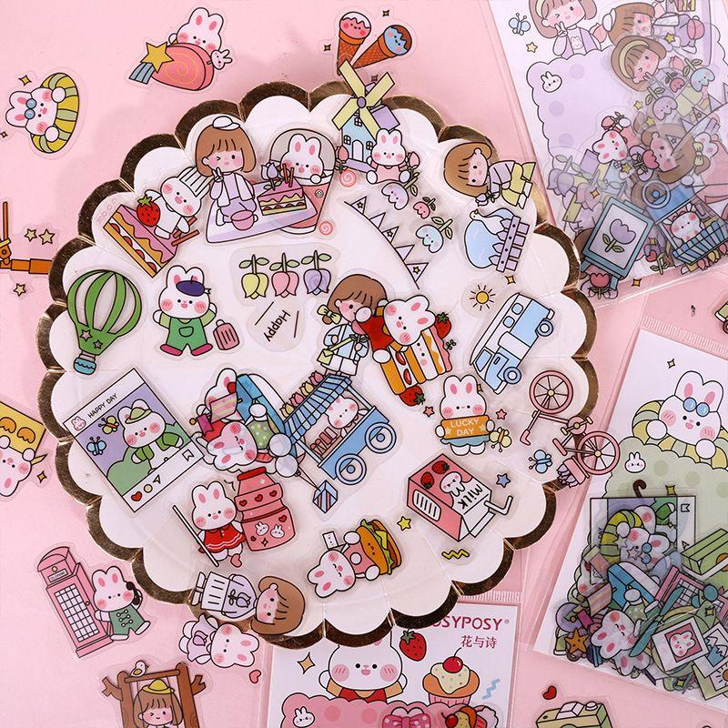Cartoon Handbook Sticker Creative Handbook DIY Tool Material Decoration Sticker wholesale nihaojewelry NHHE237628